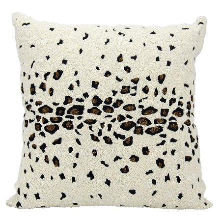 Product Of Ivory Beaded Leopard 40 X 40 Decorative Pillow By Mesmerizing Nourison Decorative Pillows