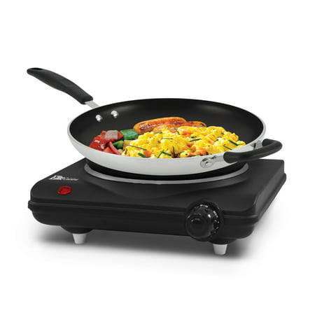 Cooking With Electric Stove - Elite Cuisine ESB-301BF Single Cast Electric Burner Hot Plate, Black
