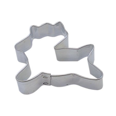 CybrTrayd R&M Reindeer Tinplated Steel Cookie Cutter, Mini, Silver, Bulk Lot of 12