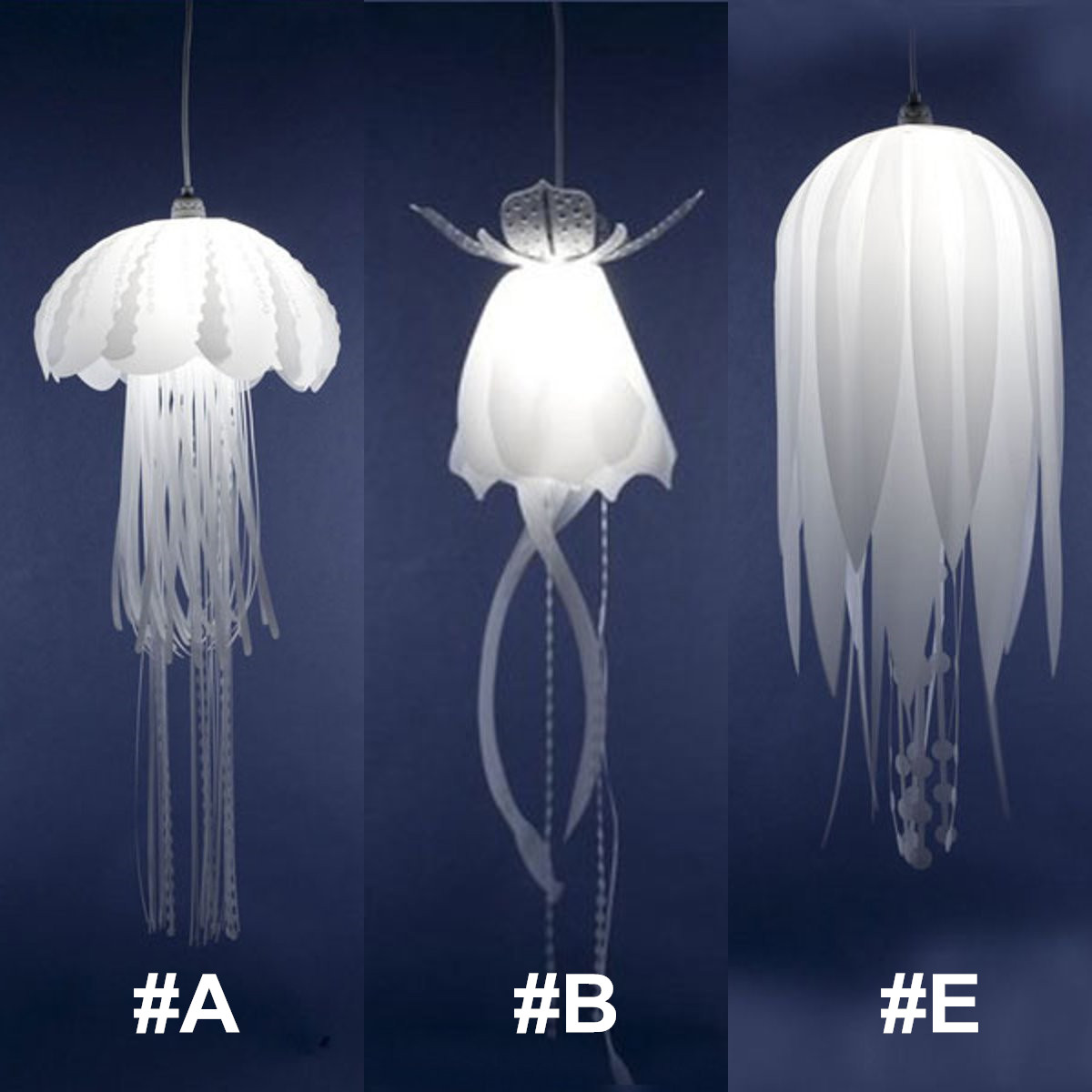Modern Glow Ethereal Jellyfish Lampshade Ceiling Chandelier Light Pendant Lamp