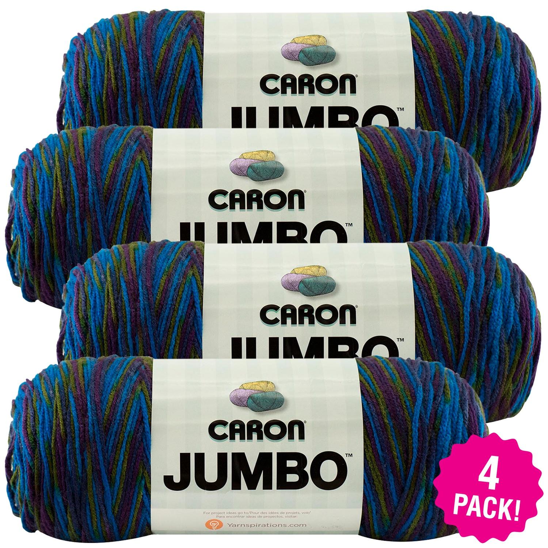 Caron Jumbo Print Yarn - Peacock, Multipack of 4