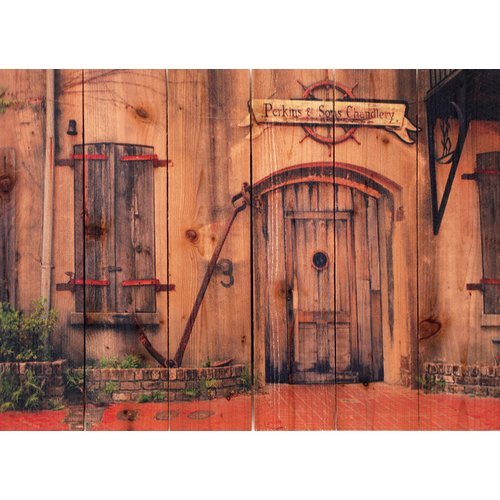 Gizaun Art Old South Indoor/Outdoor Full Color Cedar Wall Art
