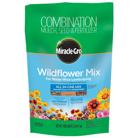Miracle Gro 2.2 lb. Wildflower Mix For Water-Wise Landscaping
