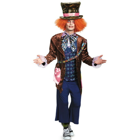 Alice Through the Looking Glass: Mad Hatter Deluxe (Movie) Adult Costume - Mad Hatter Woman Costume