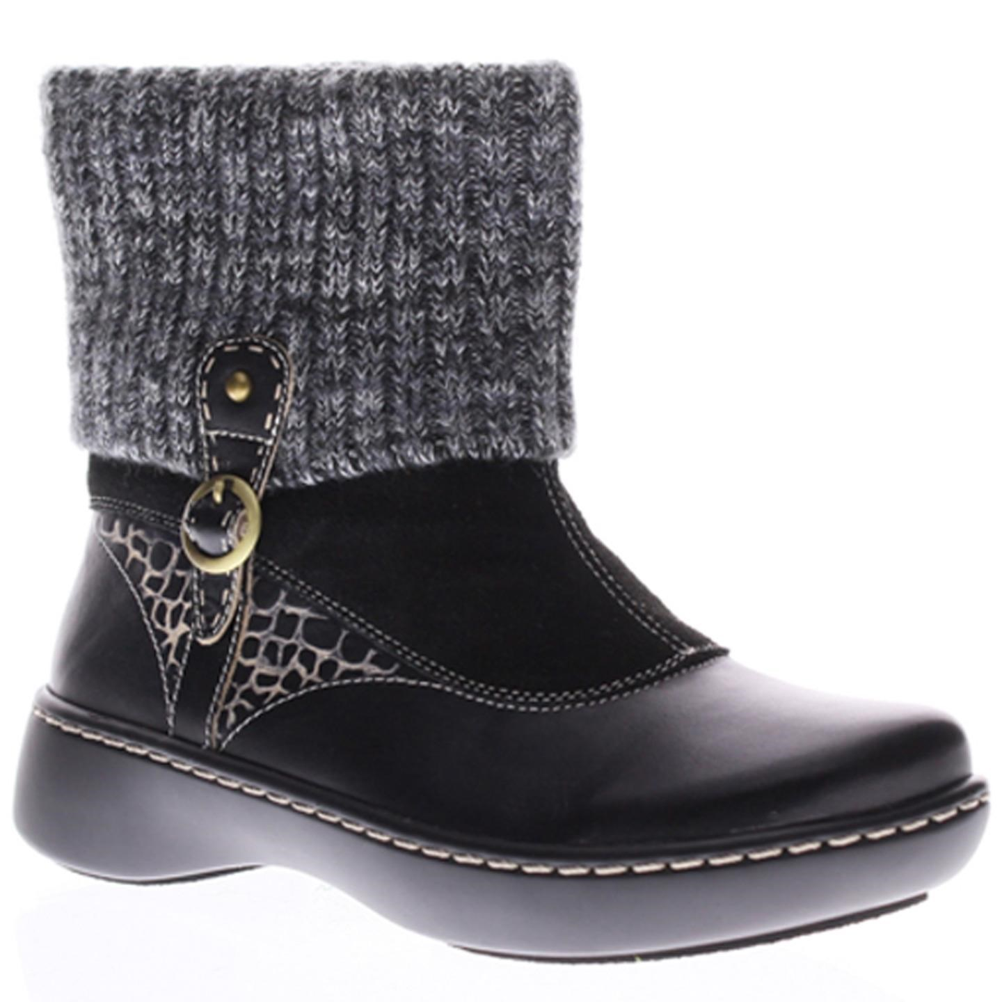 L'Artiste by Spring Step Womens Leather Boots Ontario Black Suede 37 US 7 by Spring Step