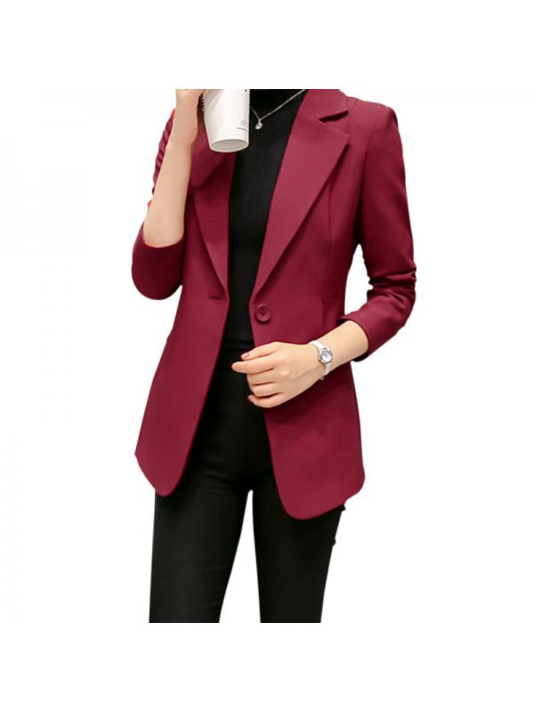 Nicesee Womens Slim Basic Suit Formal Blazer Office Business Tops Outwear