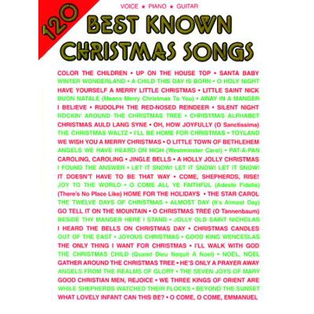 Alfred Music Book - 120 Best Known Christmas Songs : Piano/Vocal/Guitar