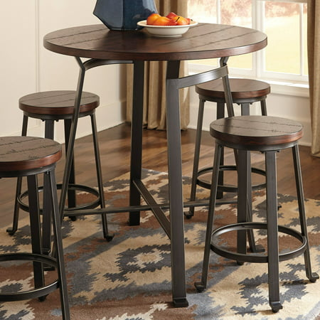 Signature Design by Ashley Challiman Counter Height Pub - Carmel Bar Table