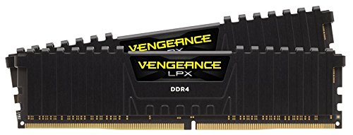 Corsair Vengeance LPX 16GB (2 x 8GB) DDR4 2666 (PC4-21300) C16 1.2V for AMD Ryzen Intel 200 - Black - CMK16GX4M2Z2666C16