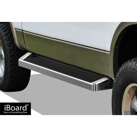 iBoard Running Boards Style Custom Fit 2004-2008 Ford F150 SuperCrew Cab Pickup 4-Door (Nerf Bars | Side Steps | Side Bars) - Paper Pickup Board