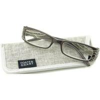 Foster Grant Women's Patti Reading Glasses, Gray