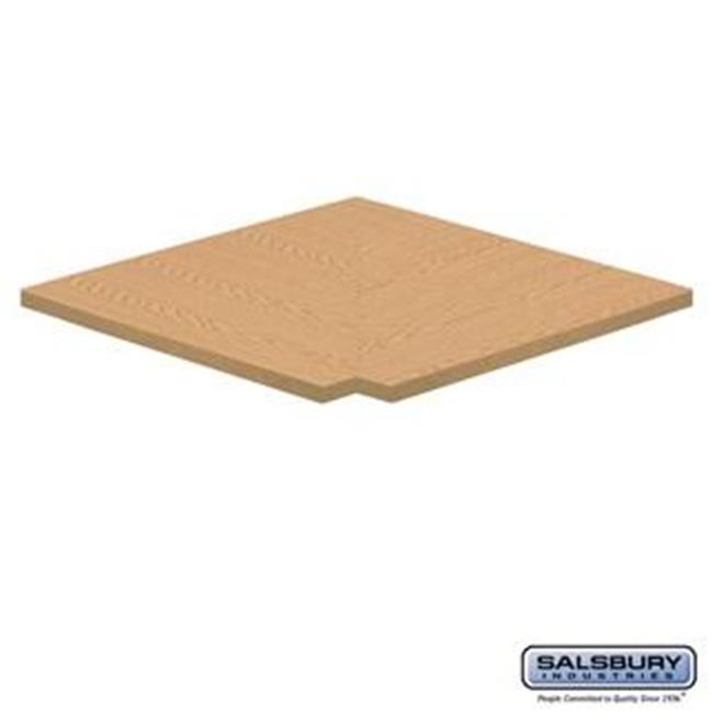 SalsburyIndustries 11134LGT 24 in. Deep Solid Light Oak Executive Wood Locker Flat Top Filler Corner