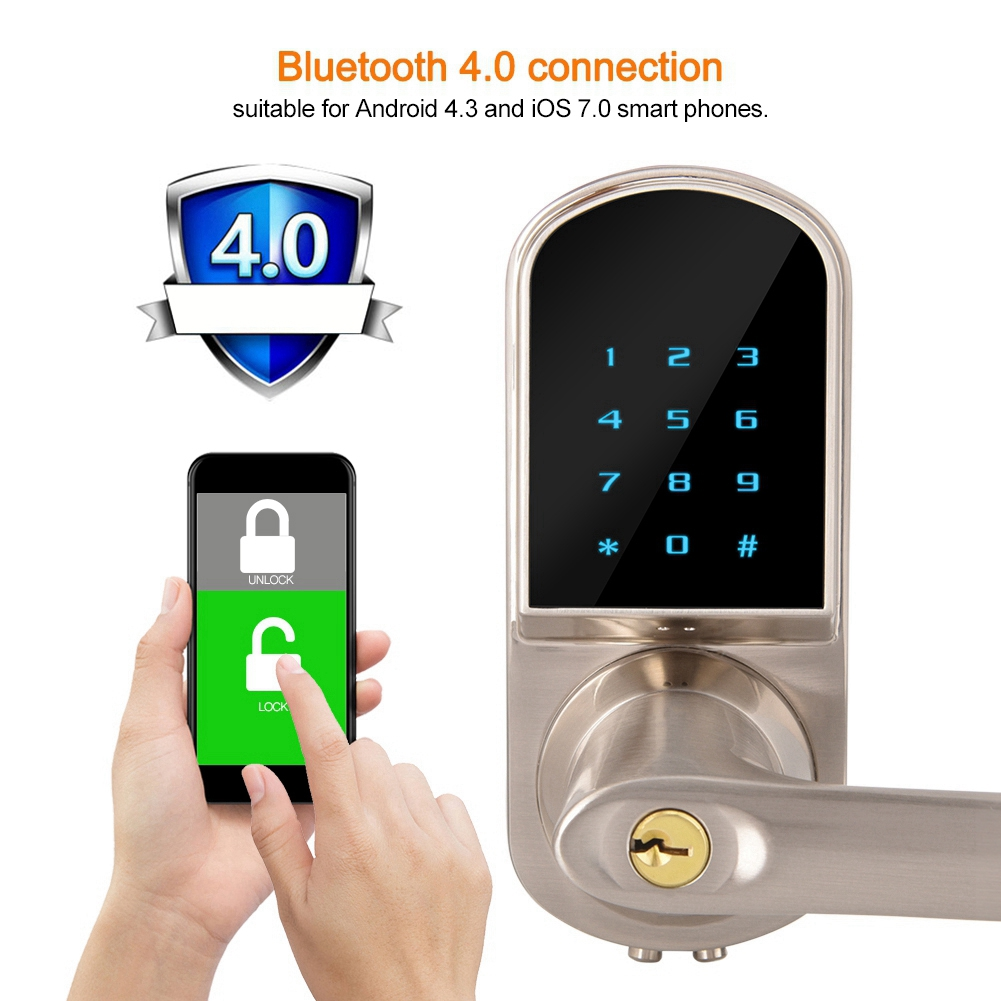 Mgaxyff Bluetooth App Remote Control Digital Password Smart Door Lock For Home Hotel Apartment Bluetooth Door Lock Door Lock Walmart Com Walmart Com