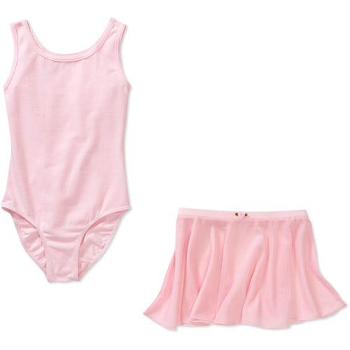 Danskin Now Girls' Dance Tank Leotard and Skirt Set