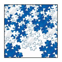 Club Pack of 12 Silver and Blue Fanci-Fetti Snowflake Christmas Celebration Confetti Bags 1 oz.
