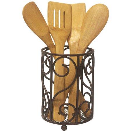 Home Basics Cutlery Holder, Bronze