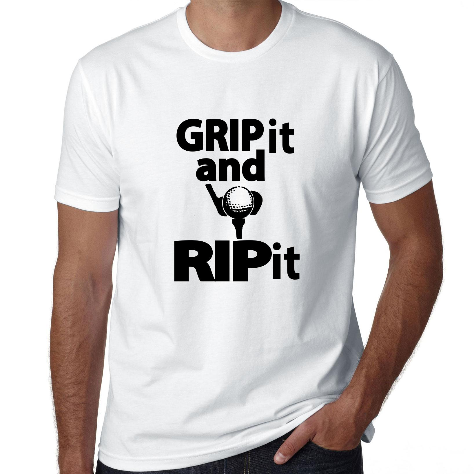Grip It and Rip It! - Golf Club & Ball Teed Up Driving Men's T-Shirt