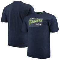 Men's Majestic College Navy Seattle Seahawks Big & Tall Royal Domination Malt T-Shirt