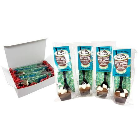 Trader Joe's Double Chocolate Hot Cocoa Stirring Spoon with Mini Marshmallow 4 X 1.05 Oz. 4-Piece Gift Set Pasta Gift Set