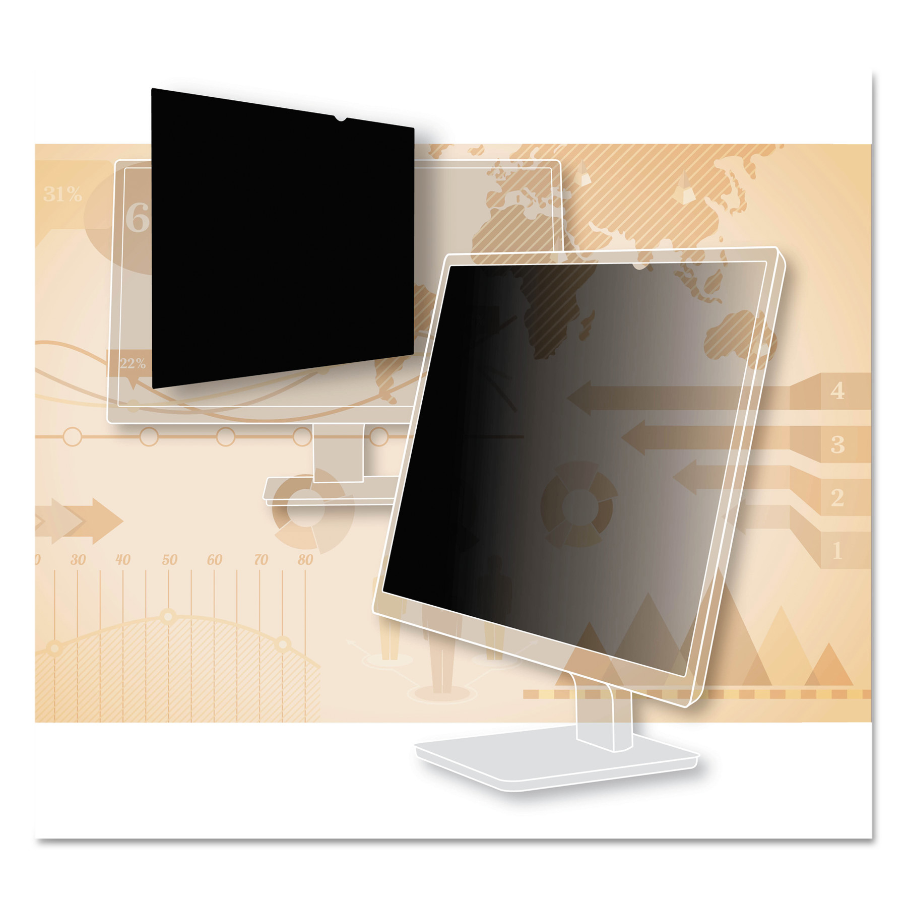 "3M Blackout Frameless Privacy Filter for 30"" Widescreen LCD Monitor, 16:10 by 3M"