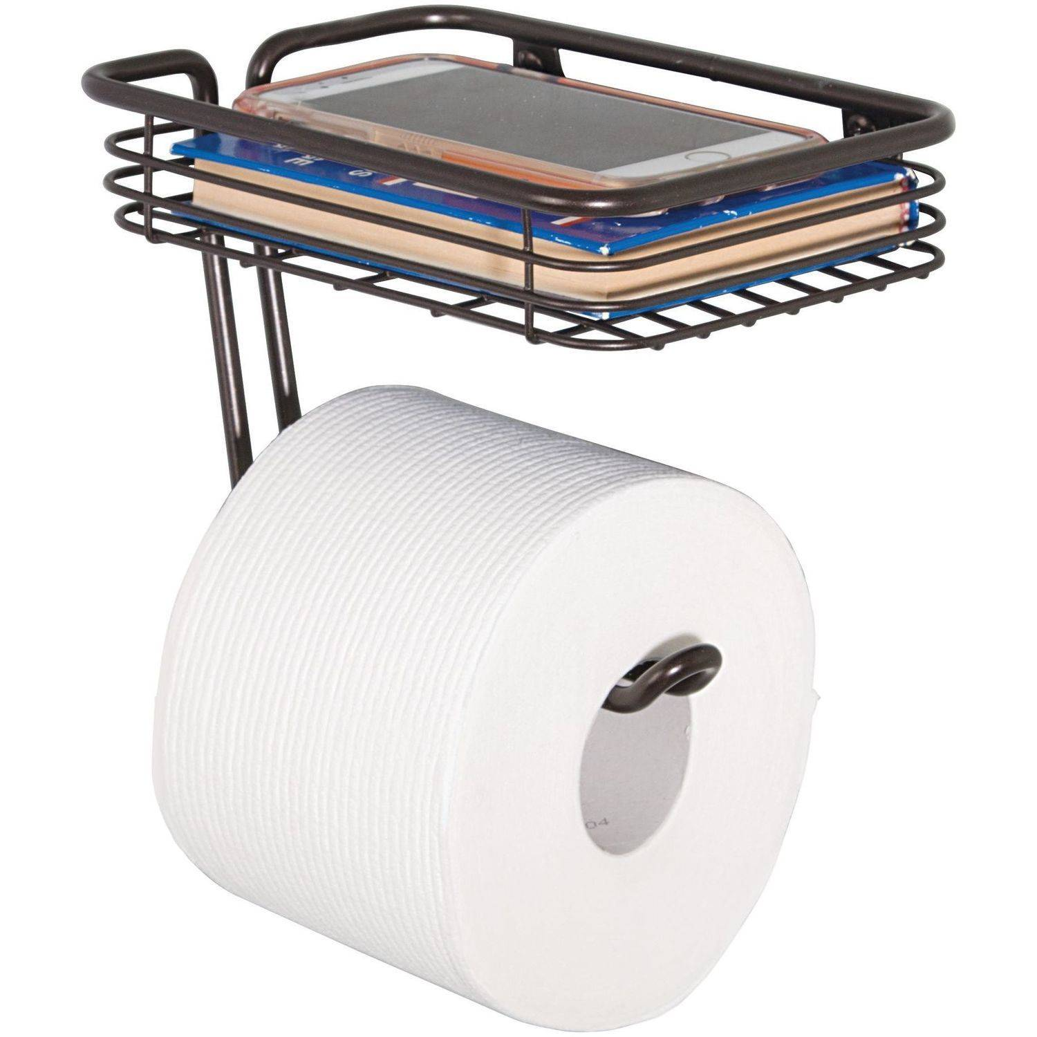 Wall Paper Holder interdesign classico toilet paper holder with shelf for bathroom