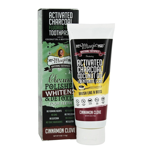 My Magic Mud Activated Charcoal Fluoride Free Whitening Toothpaste
