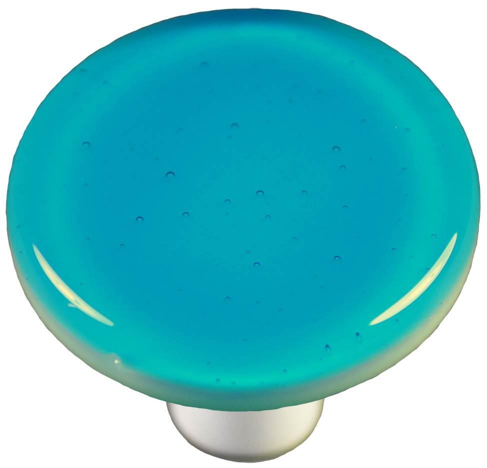 Round Knob in Turquoise Blue (Aluminum)