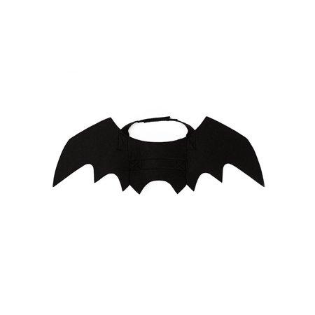 Gremlin Dog Halloween Costume (Bat Wings Vampire Black Cute Fancy Dress Up Pet Dog Cat Halloween Costume)