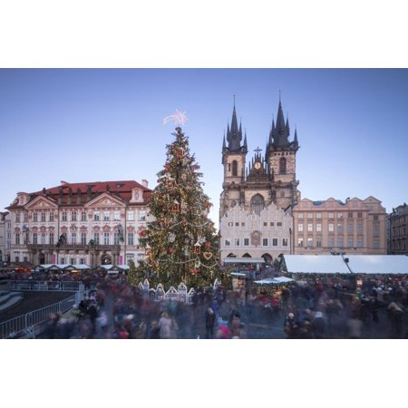 Tourists at the Christmas markets facing the Cathedral of St. Vitus, Old Town Square, UNESCO World Print Wall Art By Roberto Moiola](Old World Market Halloween)