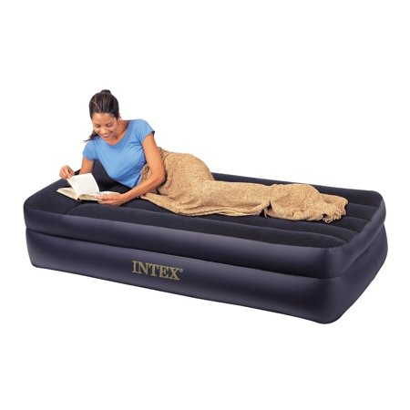 "Intex 22"" Raised Queen Air Mattress with Built-In Pump ..."