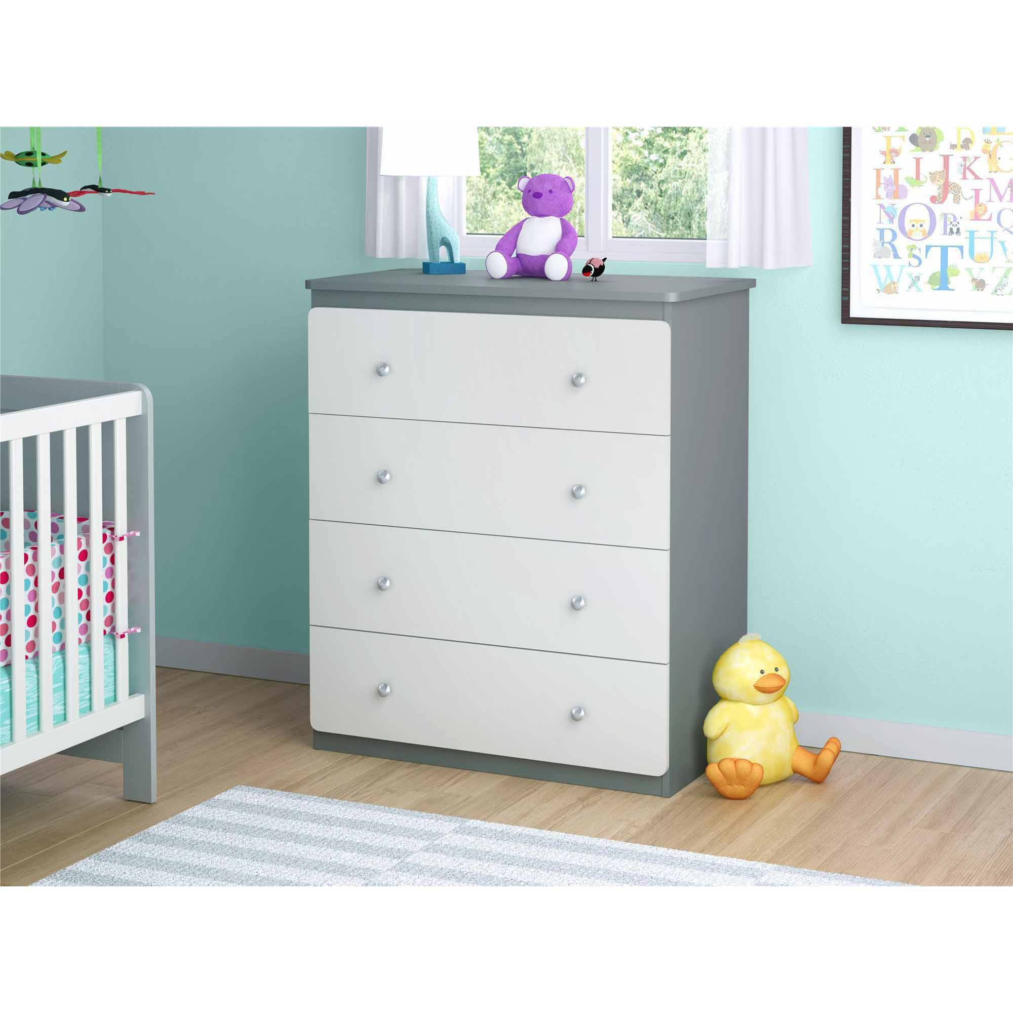 Cosco Willow Lake 4 Drawer Dresser Coffee House, Multiple Colors