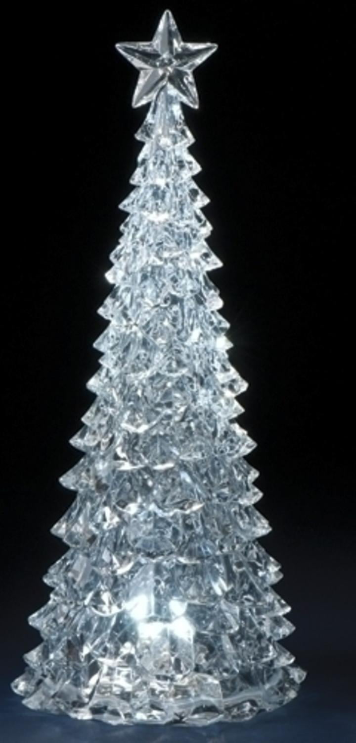 "14.75"" Icy Crystal LED Lighted Christmas Tree Table Top ..."