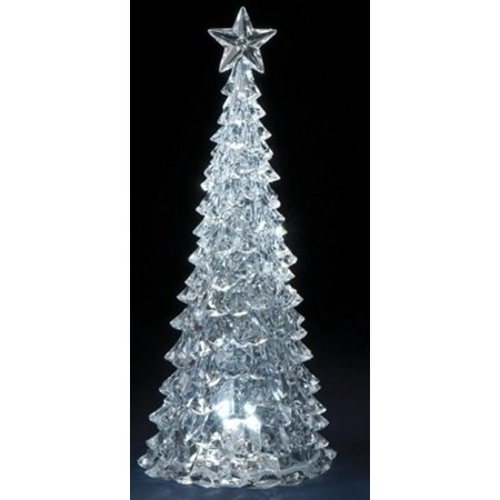 1475 icy crystal led lighted christmas tree table top decoration