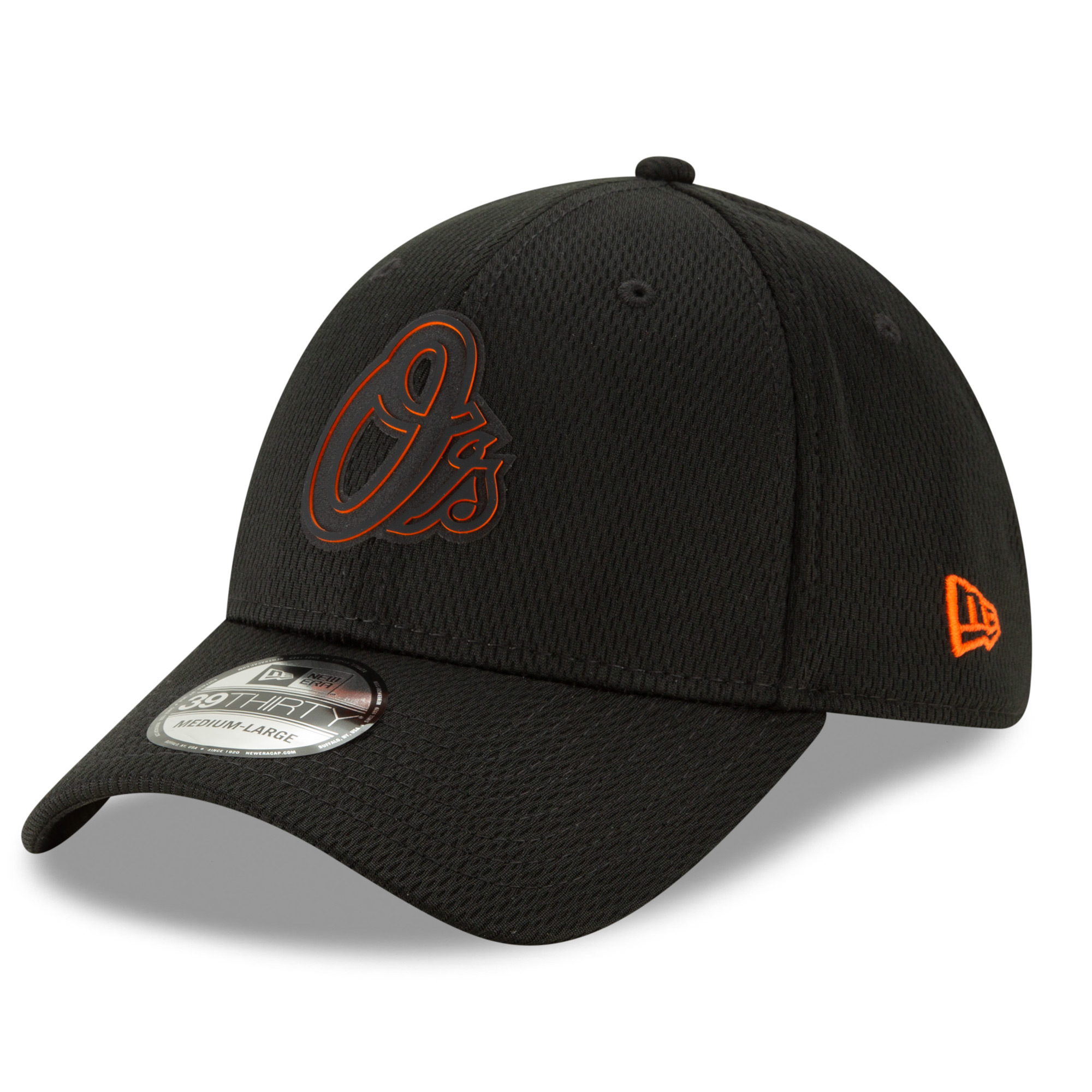 Baltimore Orioles New Era 2019 Clubhouse Collection 39THIRTY Flex Hat - Black