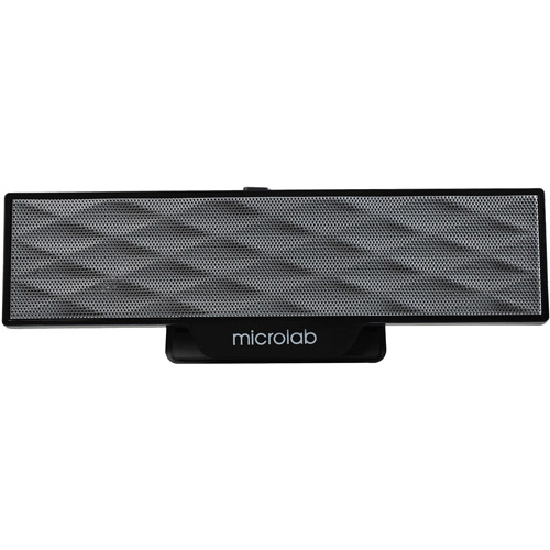 Microlab B51 Portable Amplified USB-Powered Clip-On Speaker, Black