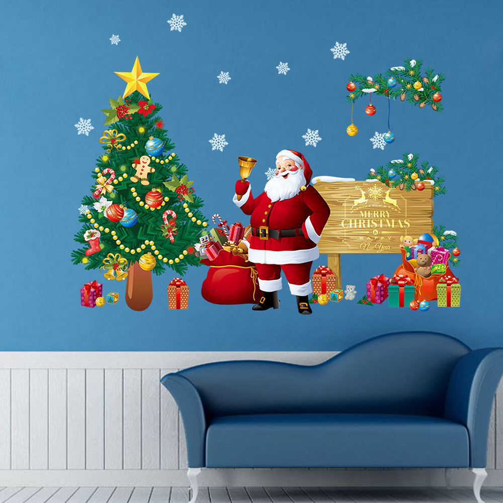 Christmas Letter Decor Removable Wall Sticker Bedroom Backdrop Art Decal DIY