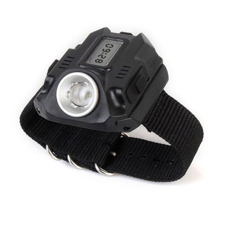 XPE LED 1000LM Display Rechargeable Wrist Watch Flashlight Torch - image 1 of 1