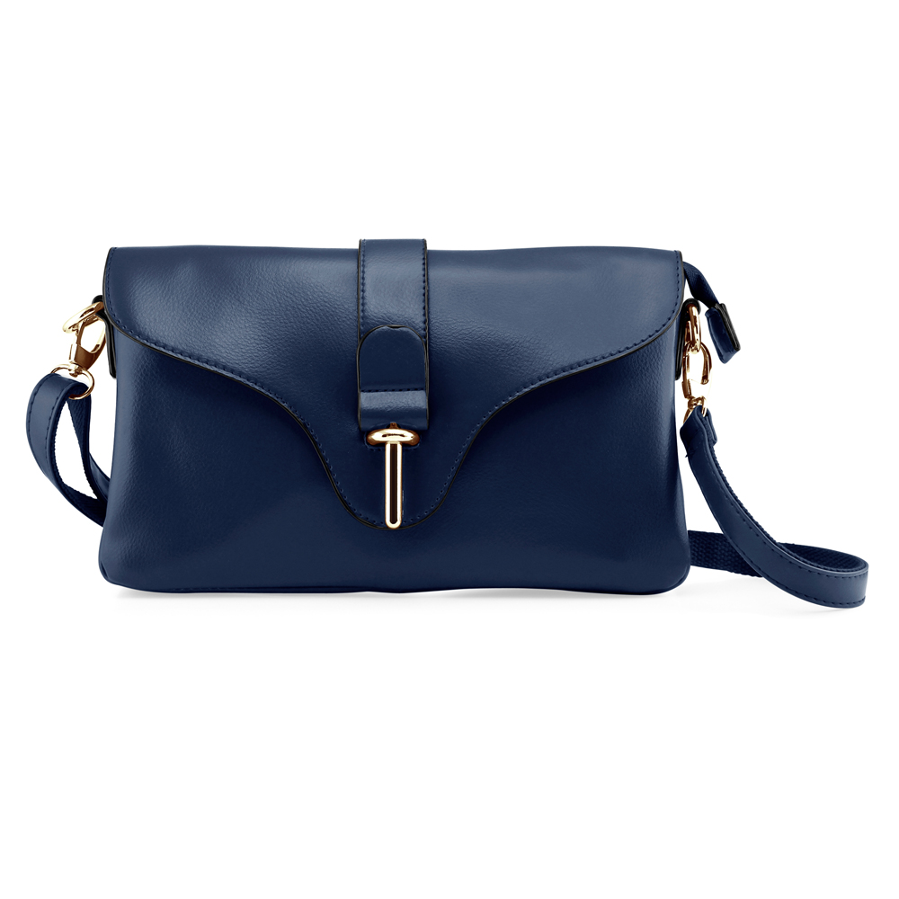 Fashion Women Handbag Shoulder Bag Tote Purse Satchel Messenger PU Leather Crossbody Bag - Blue