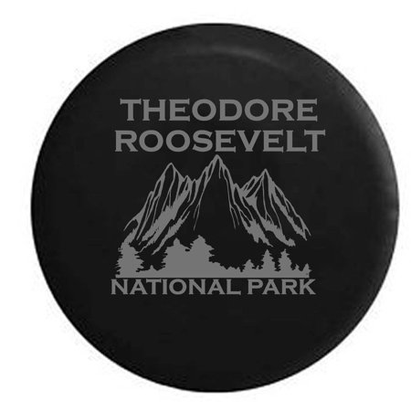 - Theodore Roosevelt National Park North Dakota Trailer Spare Tire Cover Vinyl Stealth Black 33 in