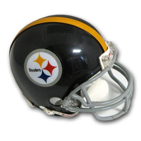 (Pittsburgh Steelers 1963-76 Throwback Replica Mini Helmet w/ Z2B Face Mask, Officially Licensed By 2017 Riddell Speed Mini Helmet Throwback)