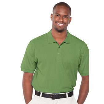 Premium Pique Polo - OTTO 7.0 oz. Comfy Cotton Pique Knit Men's Premium Sport Shirt - Cactus Green