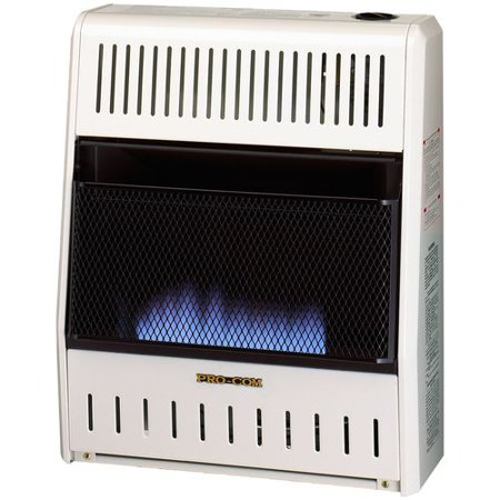 - Procom MN200HBA Vent Free Natural Gas Blue Flame Wall Heater - 20,000 BTU, Manual Control