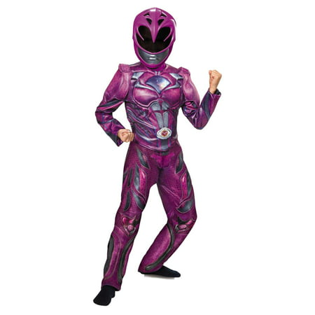 Power Rangers Girls Pink Ranger Costume & Mask Halloween Outfit (Girl Halloween Outfit)