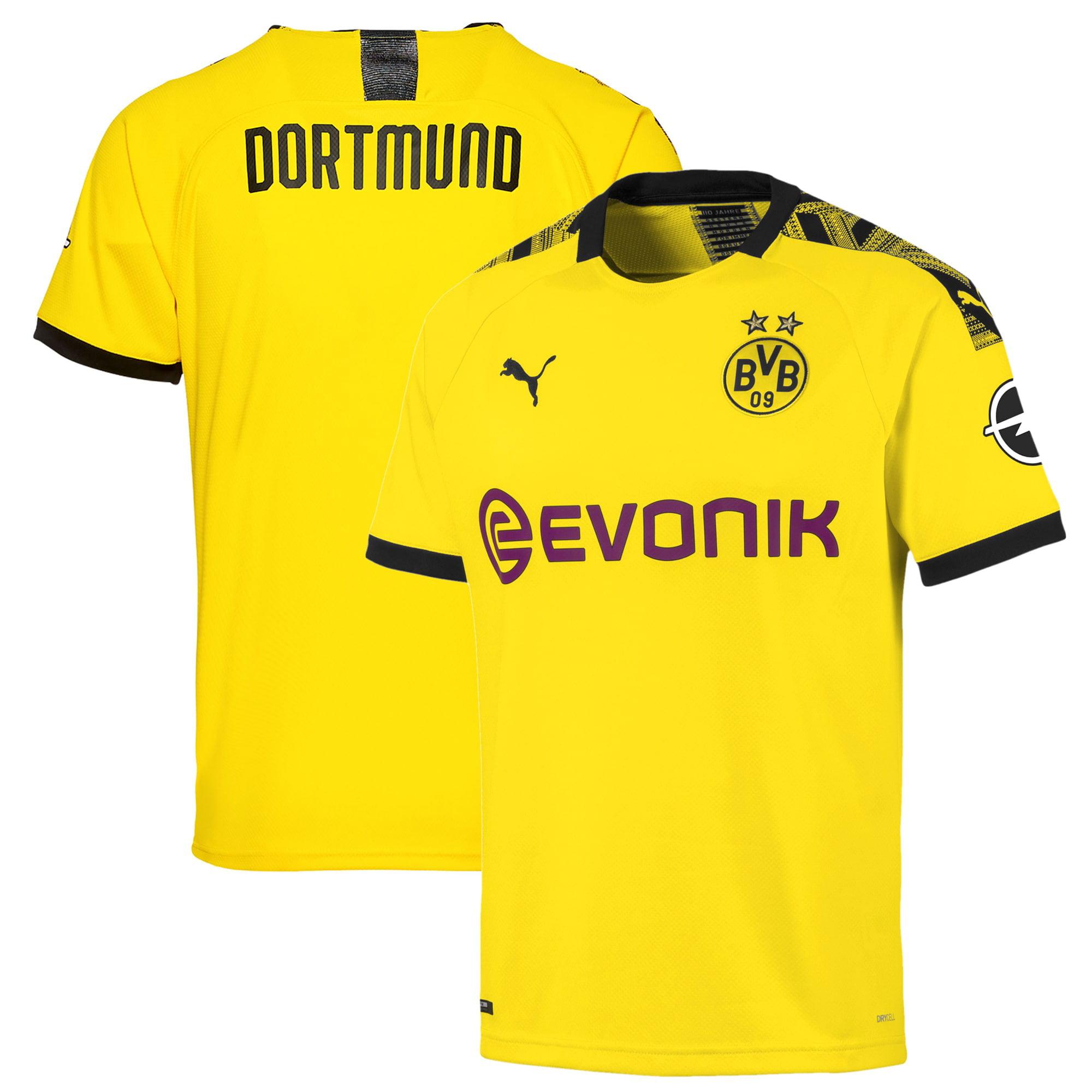 PUMA - Borussia Dortmund Puma 2019/20 Home Replica Jersey - Yellow - Walmart.com