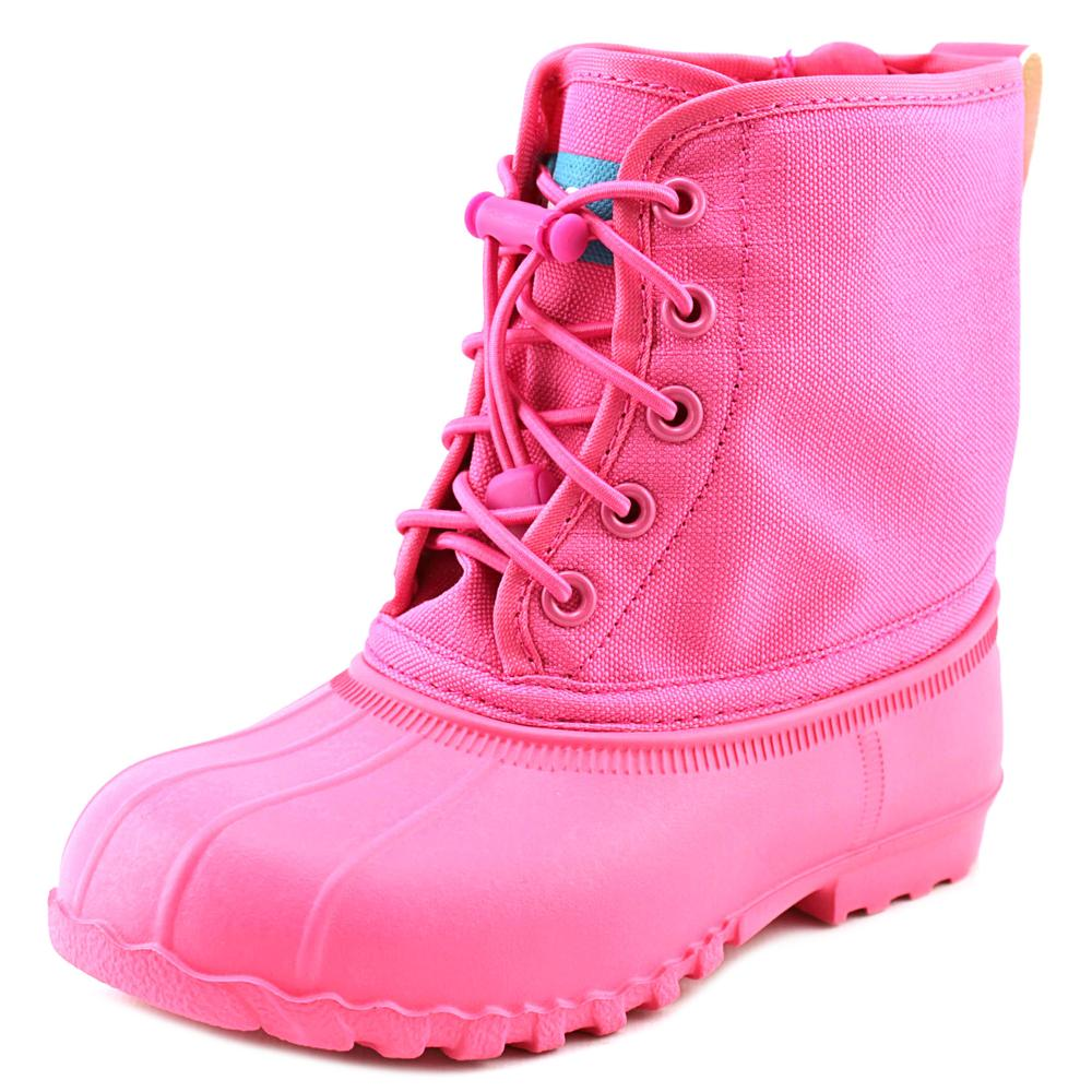 Native Jimmy Child Youth  Round Toe Synthetic Pink Rain Boot