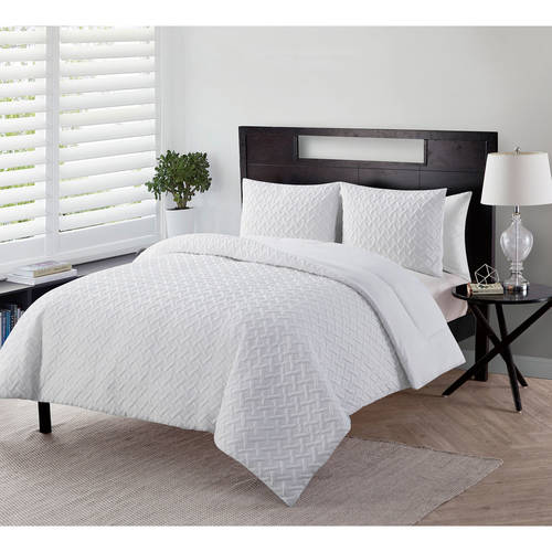 vcny home nina geometric embossed bedding comforter set shams included