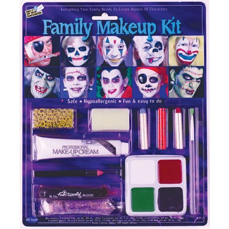 Very Easy Halloween Makeup (Family Kit Halloween Makeup)