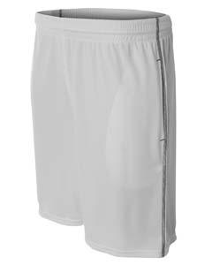 A4 Drop Ship Men's Flat Back Mesh Shorts w/ Contrast Stitching