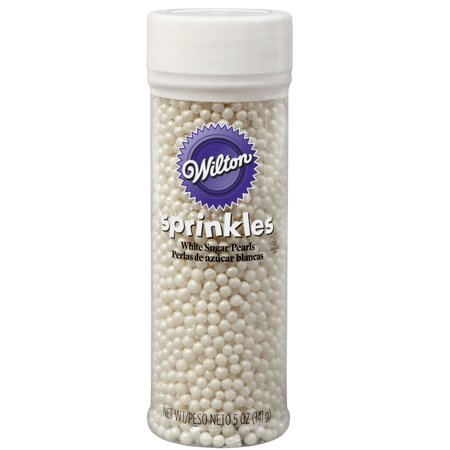Wilton White Sugar Pearl Sprinkles, 4.8 oz.](Mickey Sprinkles)