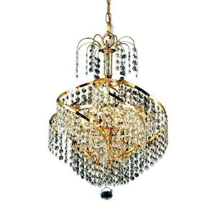 "Elegant Lighting Spiral 14"" 3 Light Royal Crystal Pendant Lamp"